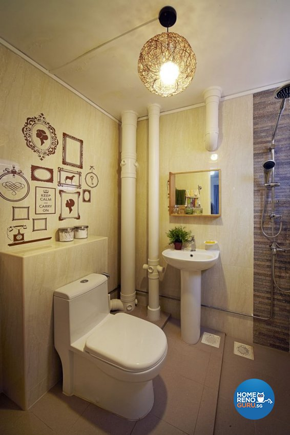 Contemporary, Retro Design - Bathroom - HDB 5 Room - Design by New Interior Design