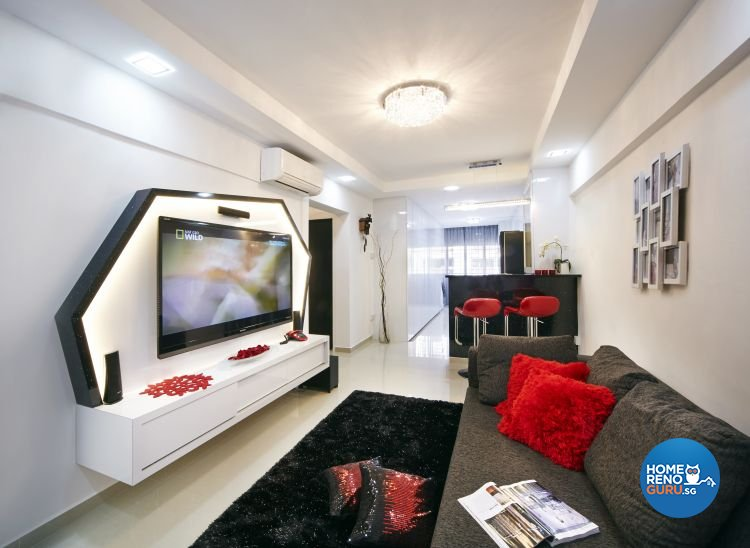 Contemporary, Modern Design - Living Room - HDB 3 Room - Design by New Interior Design