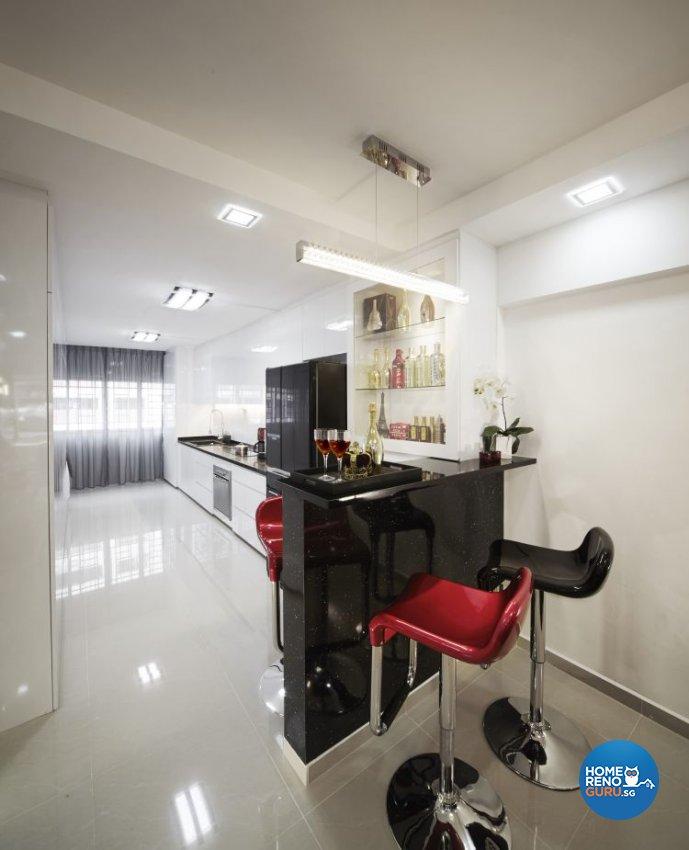 Contemporary, Modern Design - Dining Room - HDB 3 Room - Design by New Interior Design