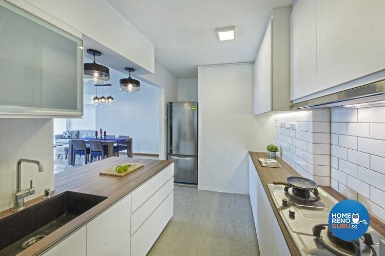 Country, Modern Design - Kitchen - HDB 4 Room - Design by New Interior Design