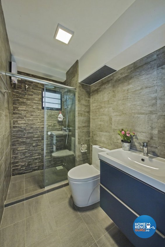 Country, Modern Design - Bathroom - HDB 4 Room - Design by New Interior Design