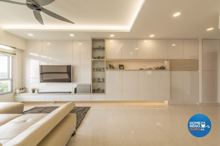 Minimalist, Modern Design - Living Room - HDB 4 Room - Design by New Interior Design