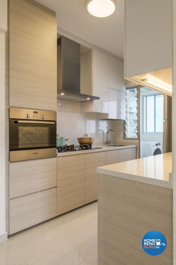 Minimalist, Modern Design - Kitchen - HDB 4 Room - Design by New Interior Design