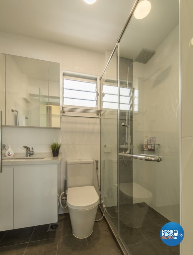 Minimalist, Modern Design - Bathroom - HDB 4 Room - Design by New Interior Design
