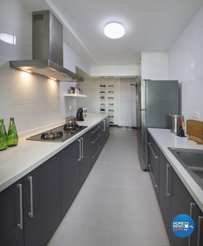 Contemporary, Modern Design - Kitchen - HDB 4 Room - Design by New Interior Design