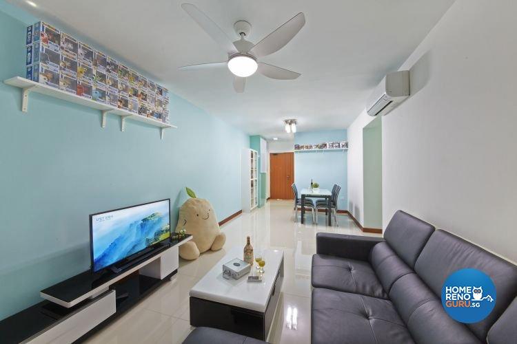 Minimalist, Modern Design   Living Room   HDB 4 Room   Design By New  Interior
