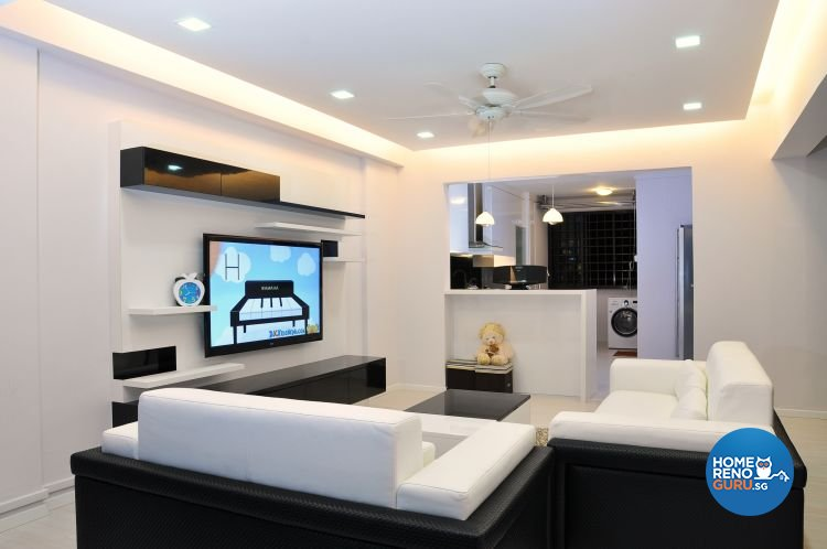 Minimalist, Modern, Scandinavian Design - Living Room - HDB 5 Room - Design by New Interior Design