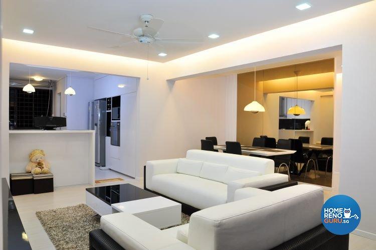 Minimalist, Modern, Scandinavian Design - Living Room - HDB 5 Room - Design by New Interior Design