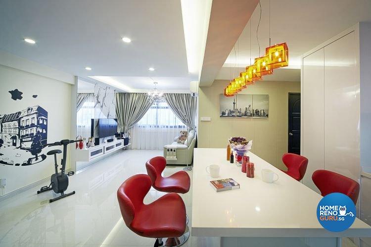 Contemporary, Minimalist, Modern Design - Living Room - HDB 5 Room - Design by New Interior Design