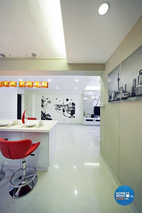 Contemporary, Minimalist, Modern Design - Dining Room - HDB 5 Room - Design by New Interior Design