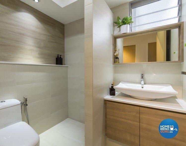 Contemporary, Minimalist Design - Bathroom - HDB 5 Room - Design by Newedge design