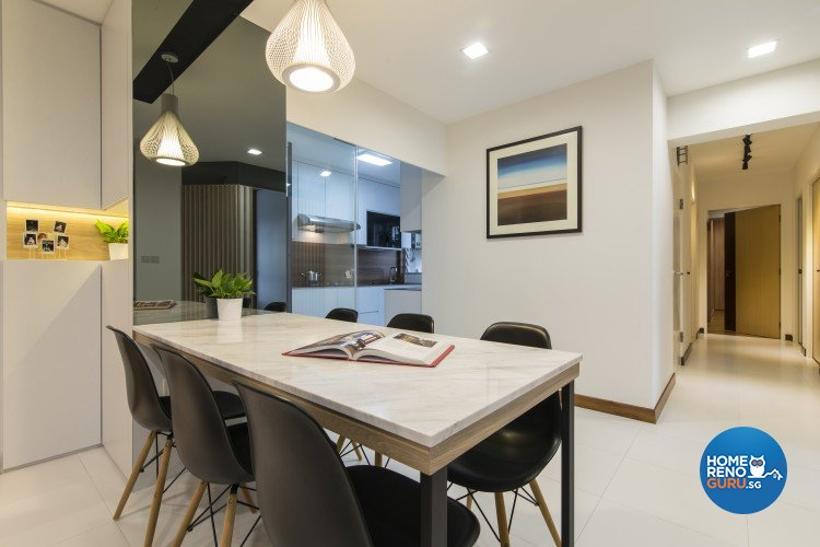 Contemporary, Minimalist Design - Dining Room - HDB 5 Room - Design by Newedge design
