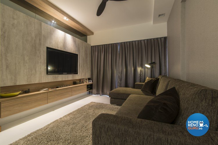 Contemporary, Minimalist Design - Living Room - HDB 5 Room - Design by Newedge design