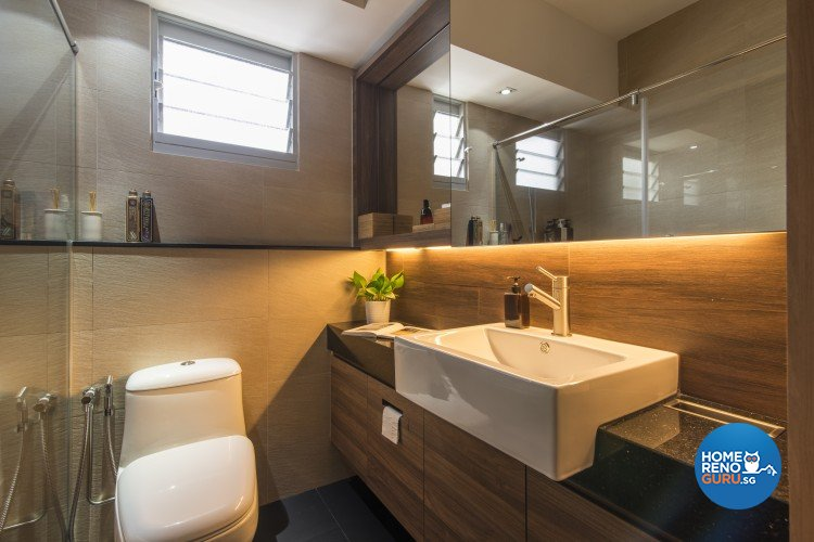 Contemporary, Minimalist Design - Bathroom - HDB 5 Room - Design by Newedge design