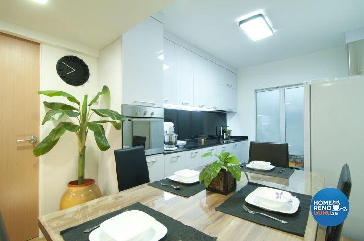 Modern, Tropical Design - Dining Room - HDB 3 Room - Design by Newedge design