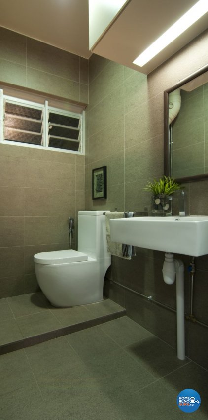 Modern, Tropical Design - Bathroom - HDB 3 Room - Design by Newedge design