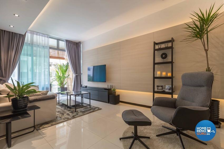 Resort Design - Living Room - Condominium - Design by NID Design Group