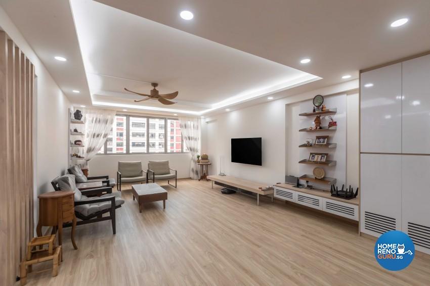 Modern Design - Living Room - HDB 5 Room - Design by NID Interior