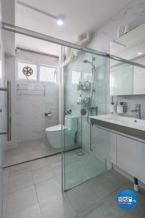 Modern Design - Bathroom - HDB 5 Room - Design by NID Design Group