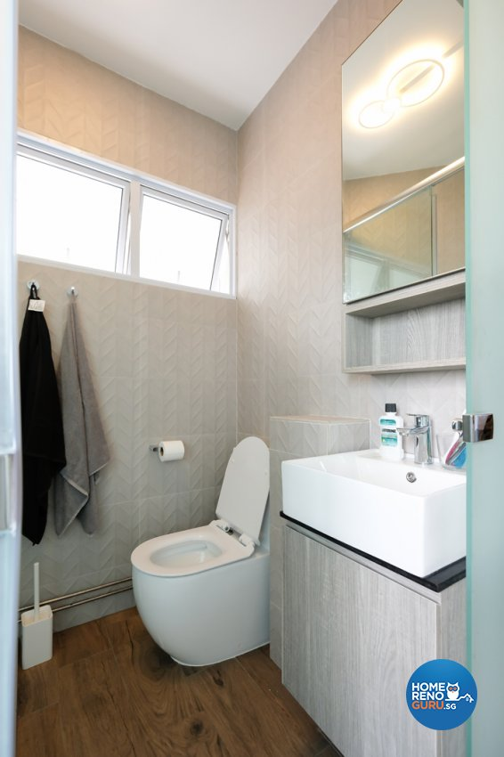 Contemporary, Eclectic, Modern Design - Bathroom - HDB 4 Room - Design by Nitty Gritty Interior Pte Ltd