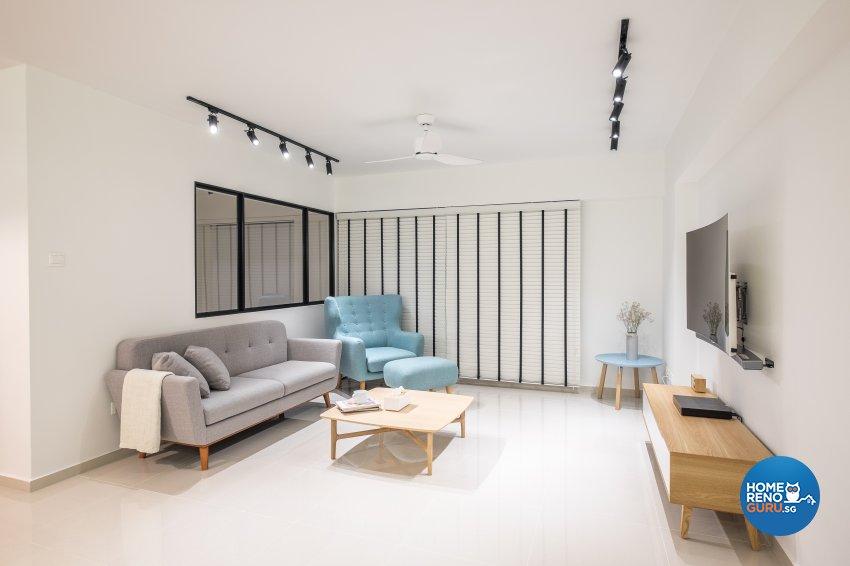 Minimalist Design - Living Room - HDB 5 Room - Design by Nitty Gritty Interior Pte Ltd
