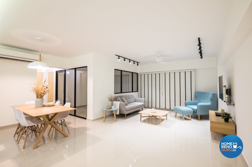 Minimalist Design - Dining Room - HDB 5 Room - Design by Nitty Gritty Interior Pte Ltd