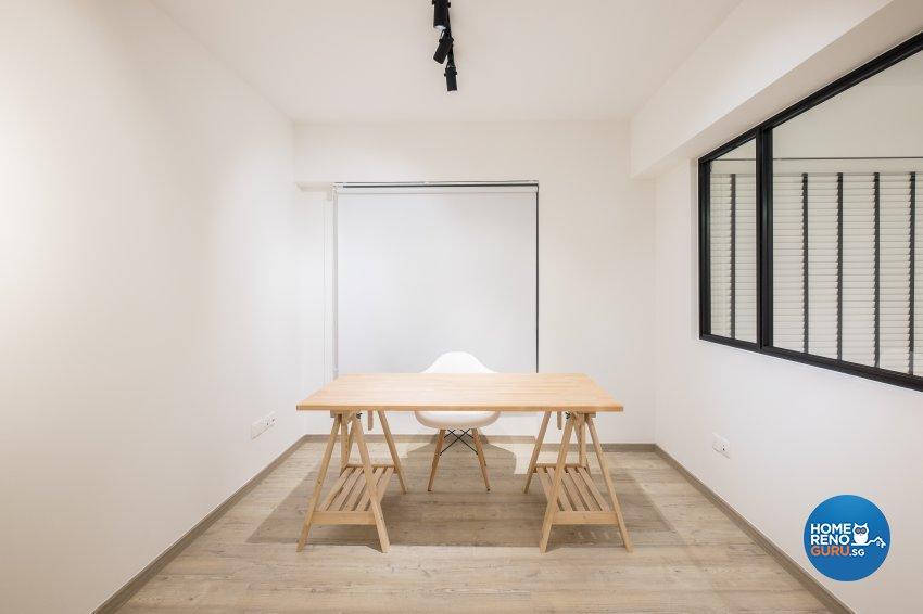 Minimalist Design - Study Room - HDB 5 Room - Design by Nitty Gritty Interior Pte Ltd