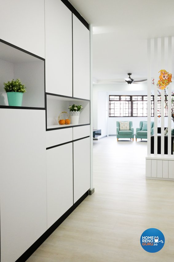 Modern Design - Living Room - HDB 5 Room - Design by Nitty Gritty Interior Pte Ltd