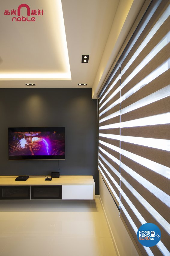 Contemporary, Modern Design - Living Room - HDB 4 Room - Design by Noble Interior Design Pte Ltd