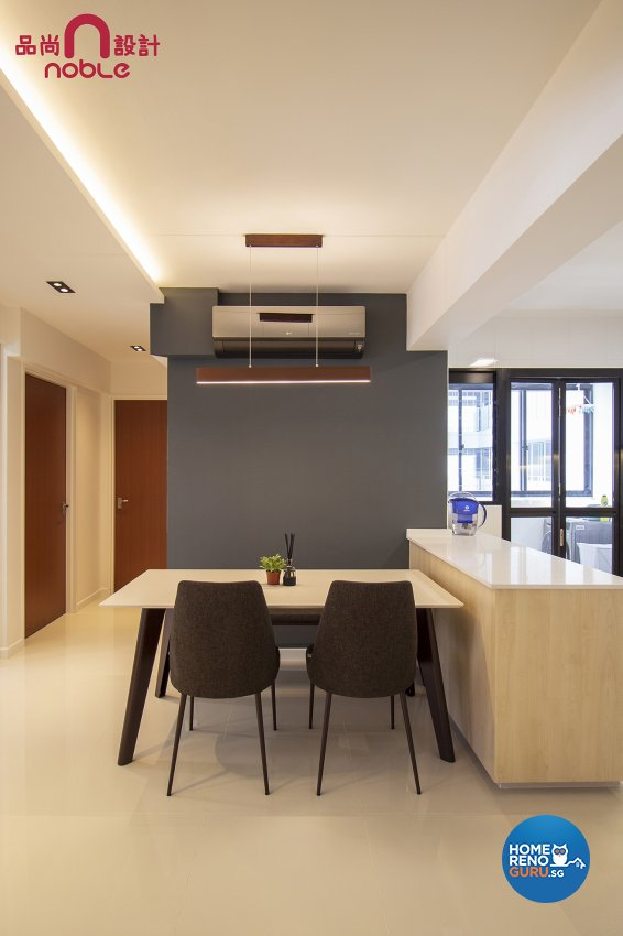 Contemporary, Modern Design - Dining Room - HDB 4 Room - Design by Noble Interior Design Pte Ltd