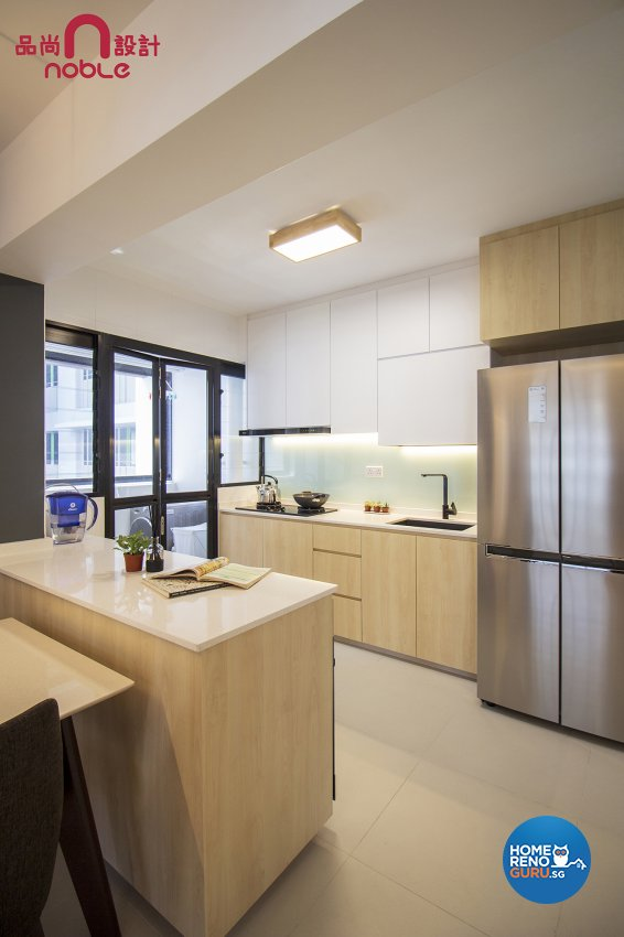 Contemporary, Modern Design - Kitchen - HDB 4 Room - Design by Noble Interior Design Pte Ltd
