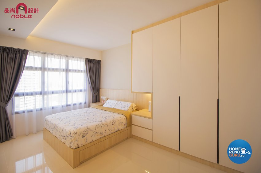 Contemporary, Modern Design - Bedroom - HDB 4 Room - Design by Noble Interior Design Pte Ltd