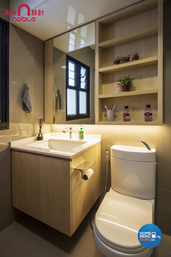 Contemporary, Modern Design - Bathroom - HDB 4 Room - Design by Noble Interior Design Pte Ltd