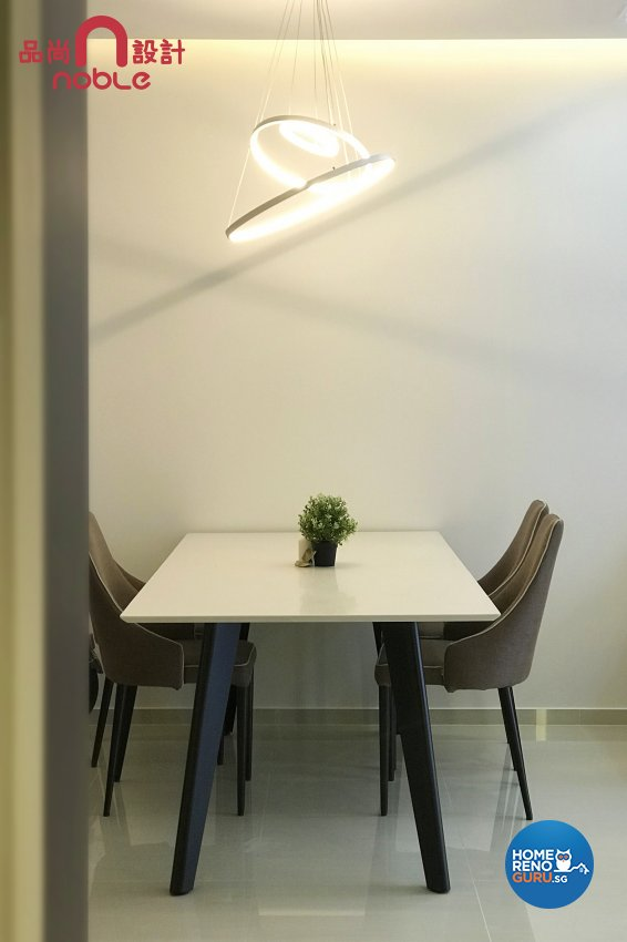 Contemporary, Modern Design - Dining Room - HDB Executive Apartment - Design by Noble Interior Design Pte Ltd
