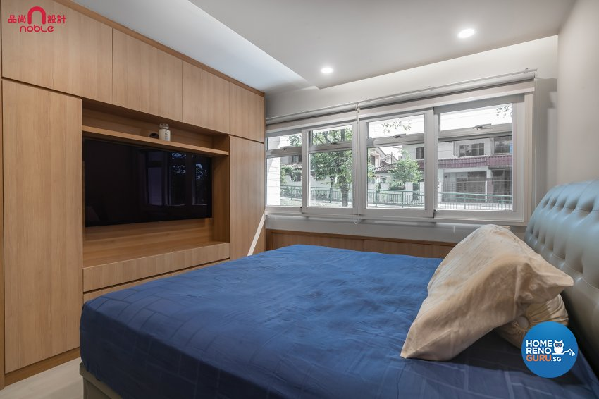 Contemporary, Modern Design - Bedroom - HDB Executive Apartment - Design by Noble Interior Design Pte Ltd