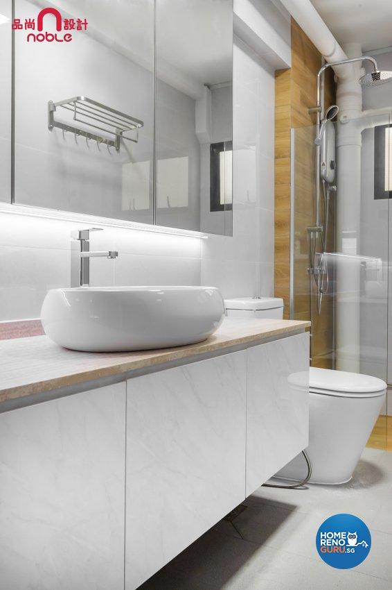 Contemporary, Modern Design - Bathroom - HDB Executive Apartment - Design by Noble Interior Design Pte Ltd