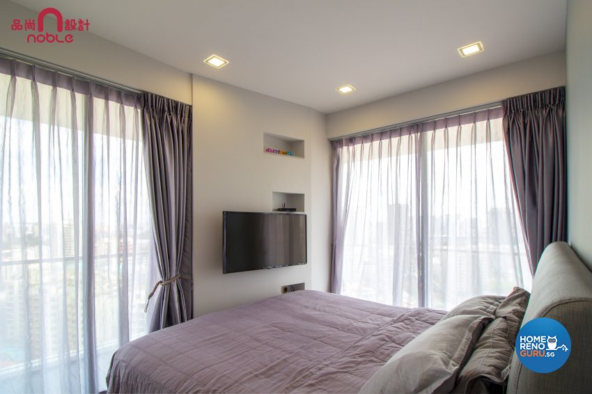 Modern Design - Bedroom - Condominium - Design by Noble Interior Design Pte Ltd