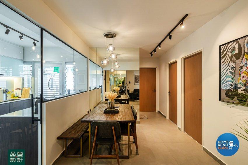 Modern Design - Dining Room - HDB 4 Room - Design by Noble Interior Design Pte Ltd