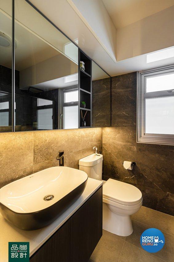 Modern Design - Bathroom - HDB 4 Room - Design by Noble Interior Design Pte Ltd