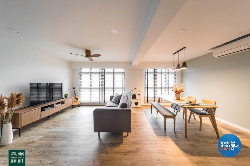 Modern Design - Living Room - HDB 4 Room - Design by Noble Interior Design Pte Ltd