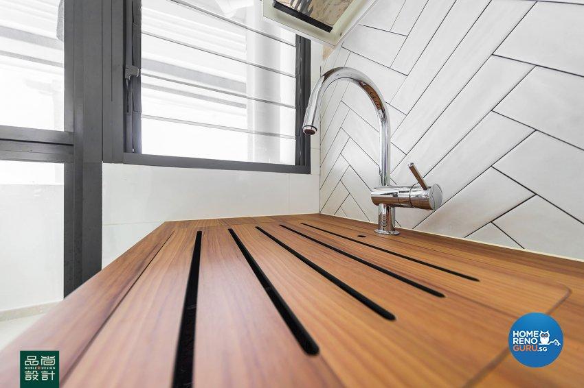 Modern Design - Kitchen - HDB 4 Room - Design by Noble Interior Design Pte Ltd