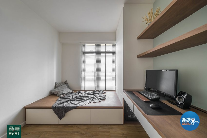 Modern Design - Study Room - HDB 4 Room - Design by Noble Interior Design Pte Ltd