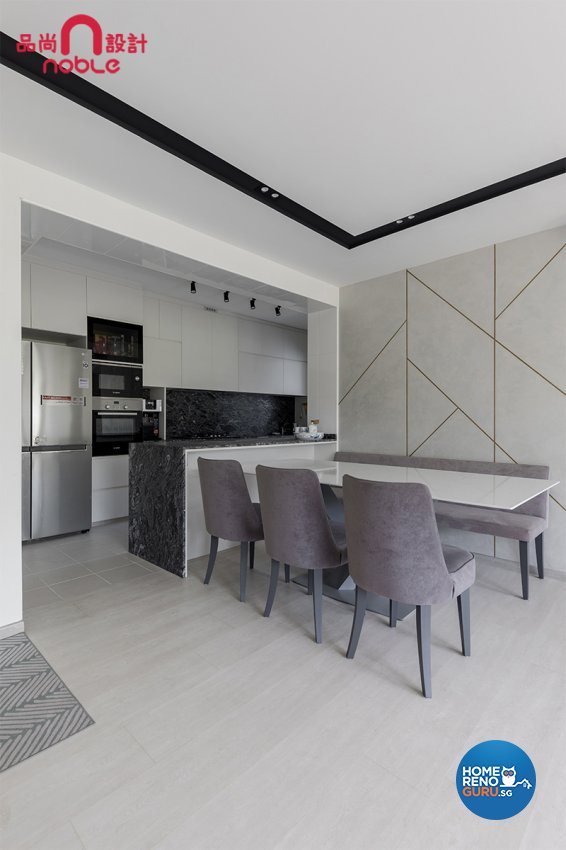 Contemporary, Modern Design - Dining Room - HDB 5 Room - Design by Noble Interior Design Pte Ltd
