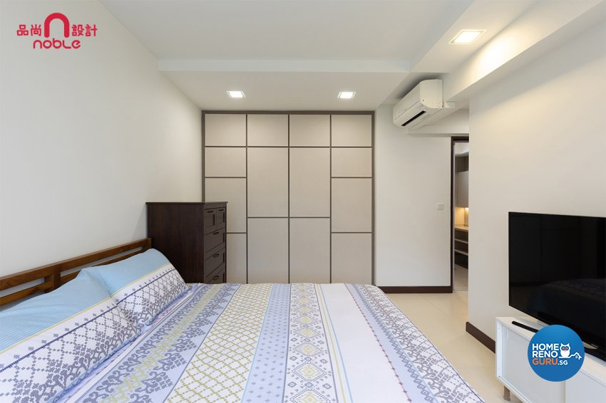 Scandinavian Design - Bedroom - HDB 5 Room - Design by Noble Interior Design Pte Ltd