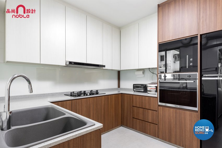 Scandinavian Design - Kitchen - HDB 5 Room - Design by Noble Interior Design Pte Ltd