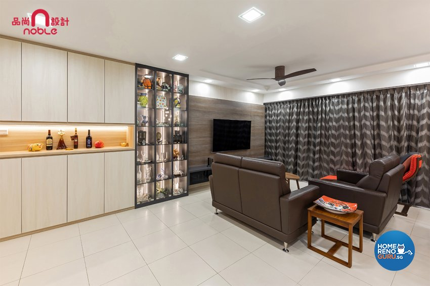Scandinavian Design - Living Room - HDB 5 Room - Design by Noble Interior Design Pte Ltd