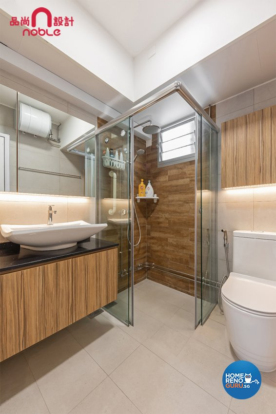 Scandinavian Design - Bathroom - HDB 5 Room - Design by Noble Interior Design Pte Ltd