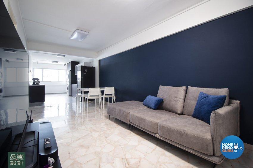 Modern Design - Living Room - HDB 3 Room - Design by Noble Interior Design Pte Ltd