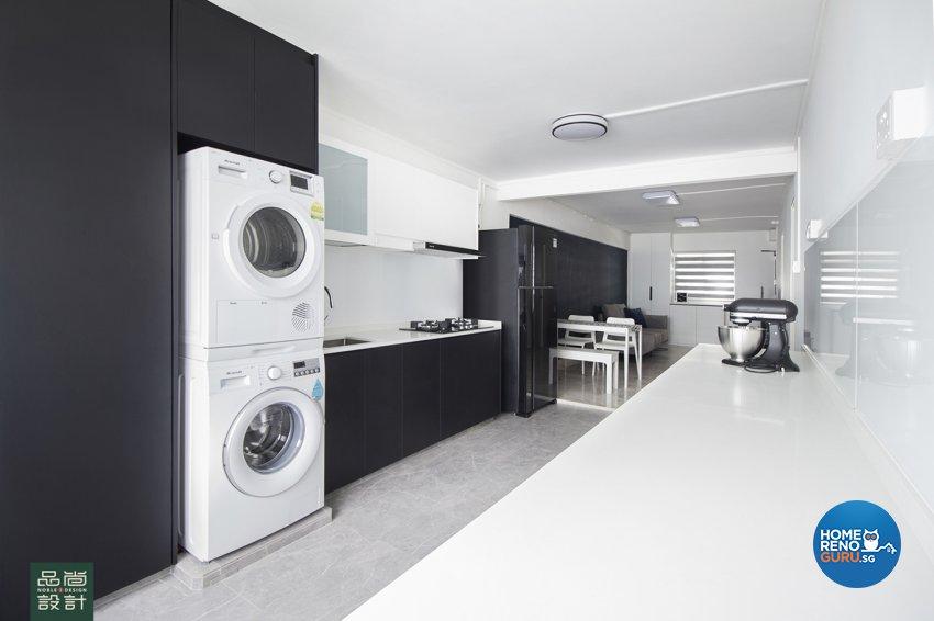 Modern Design - Kitchen - HDB 3 Room - Design by Noble Interior Design Pte Ltd