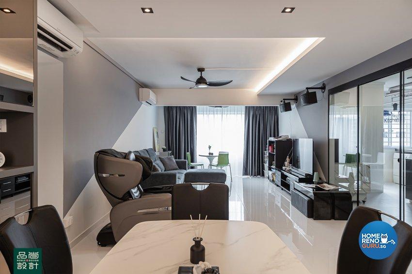Modern Design - Living Room - HDB 5 Room - Design by Noble Interior Design Pte Ltd